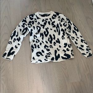 Something Navy leopard sweater